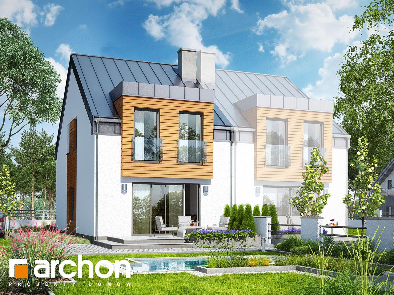 projekt domu dom pod mi orz bem 9 bn archon. Black Bedroom Furniture Sets. Home Design Ideas
