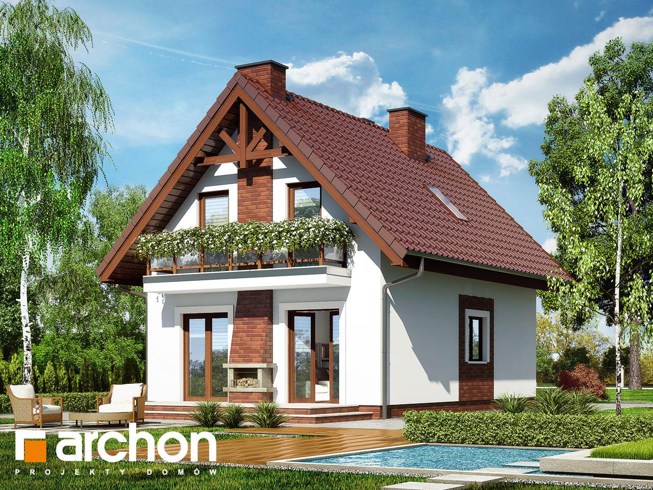 Projekt domu dom w sasankach archon for Kuchenzeile 3 40 m