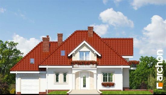 Archon+ Projekty domów - Dom w werbenach - elwacja frontowa
