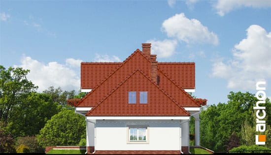 Archon+ Projekty domów - Dom w werbenach - elewacja boczna