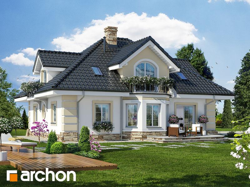 Projekt: Dom w dąbrówkach (G2) Wizualizacja widok 2