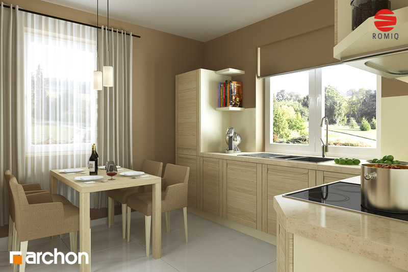 Projekt: Dom pod jarząbem (GPD) Aranżacja kuchni 1 widok 2
