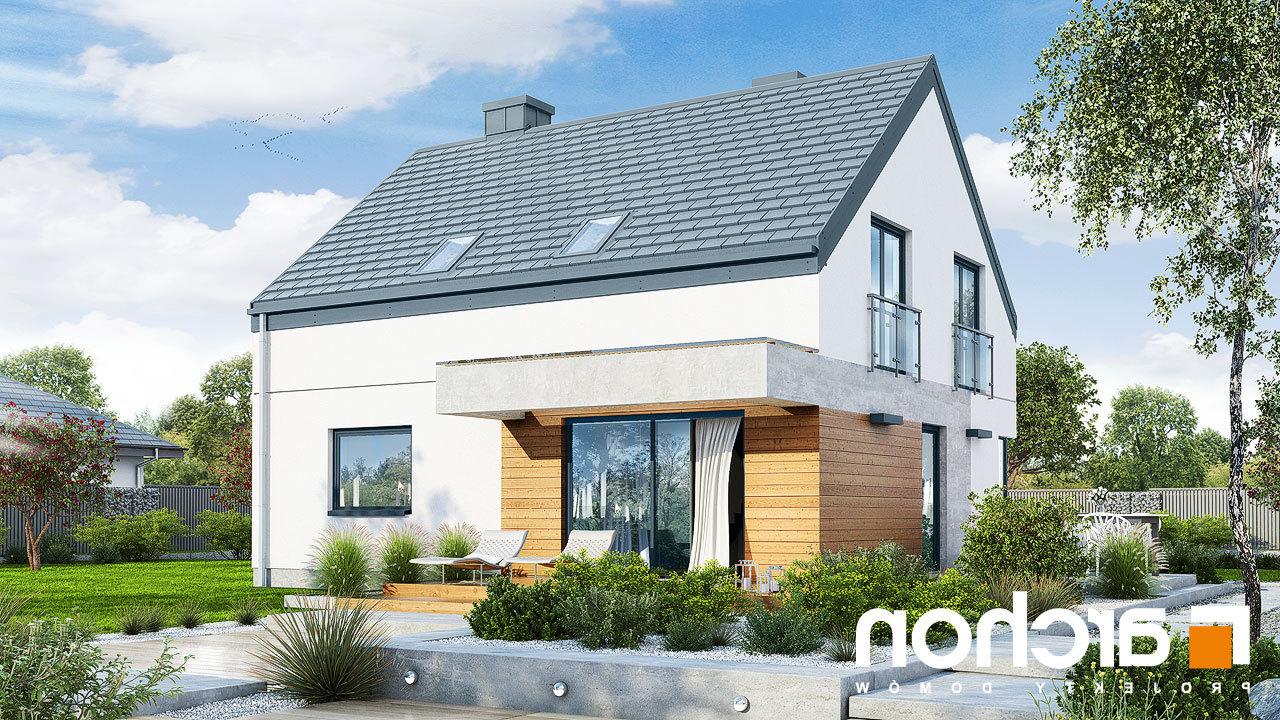 projekt domu dom w malin wkach 6 archon. Black Bedroom Furniture Sets. Home Design Ideas