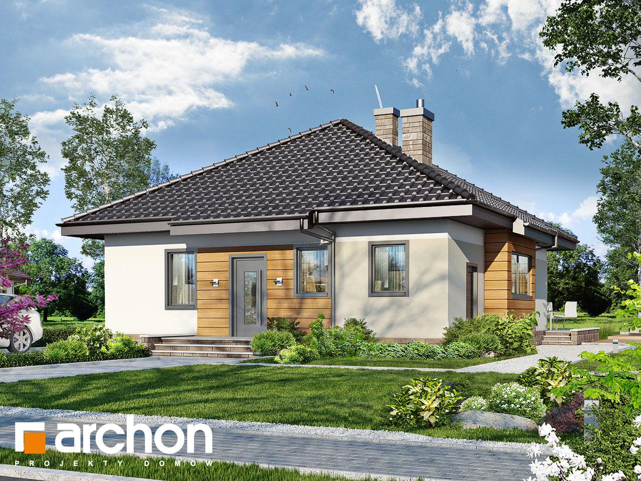 Projekt domu dom w dereniach archon for Modello di casa bungalow