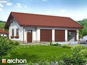 Projekt Garażu Garaż 3 Stanowiskowy G8a Dodatki Archon