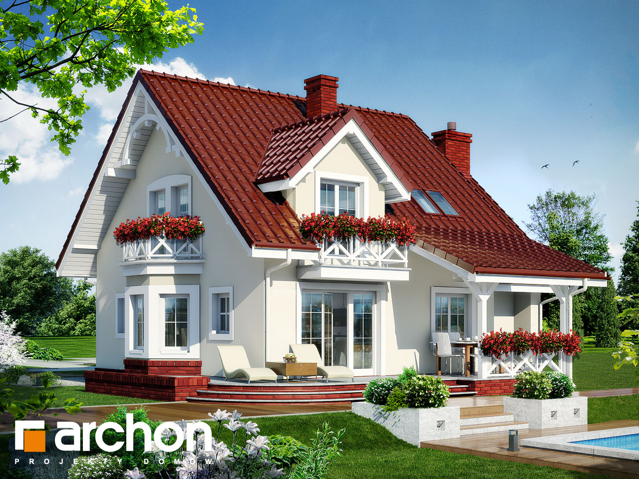 Дом в тамарисках 4 - проект archon+.