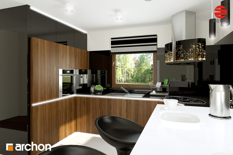 Dom w rododendronach 6 (N) ver 2  projekt domu ARCHON+
