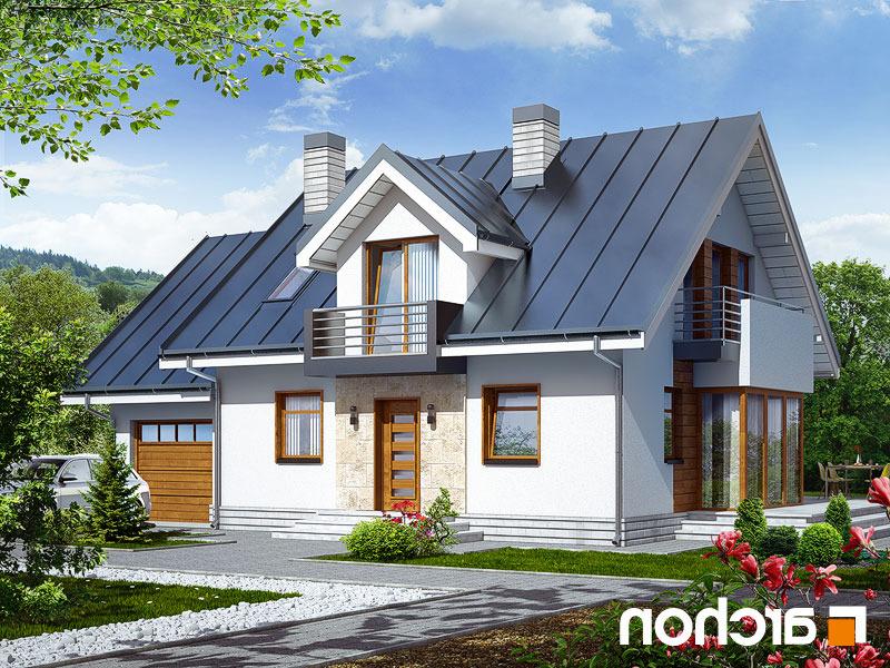 projekt domu dom w rododendronach 6 n ver 2 archon. Black Bedroom Furniture Sets. Home Design Ideas