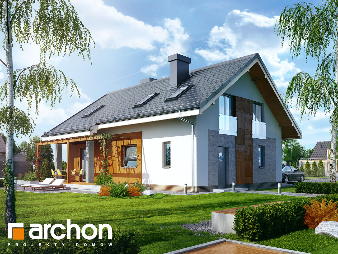 Projekt domu dom miniaturka 2 n archon for 2 piani casa in stile ranch