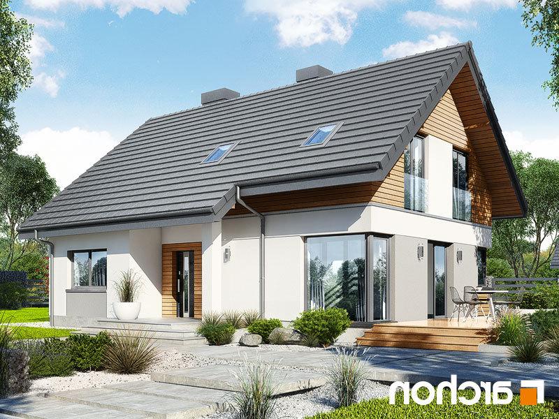 projekt domu dom w urawkach 6 w archon. Black Bedroom Furniture Sets. Home Design Ideas