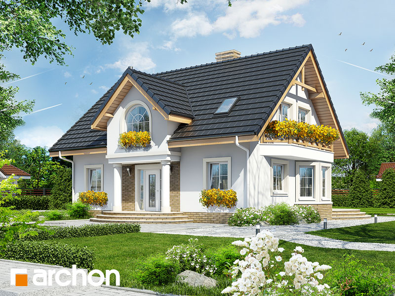 Projekt Domu Dom W Mirabelkach Ver2 Galeria Archon