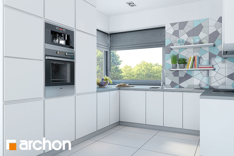 Projekt domu Dom w malinówkach  ARCHON+ # Projekt Kuchni Z Niskim Oknem