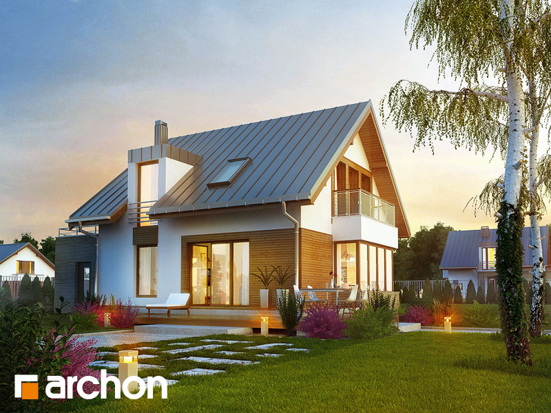 projekt domu dom w kardamonie ver 2 archon. Black Bedroom Furniture Sets. Home Design Ideas