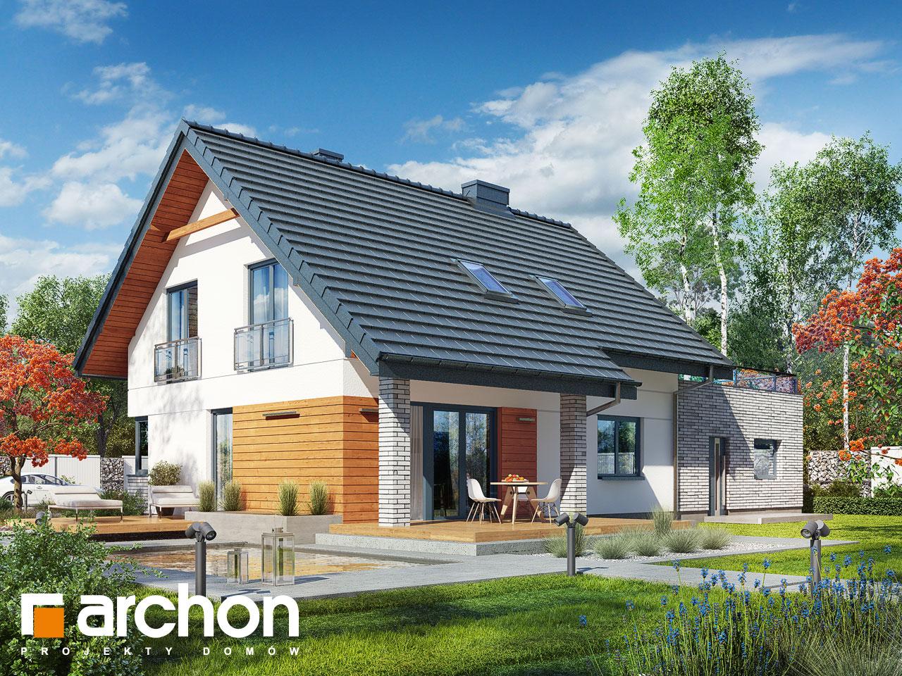 projekt domu dom w malin wkach g2p archon. Black Bedroom Furniture Sets. Home Design Ideas