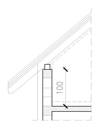 Wysokość ścianki kolankowej mierzona w stanie surowym domu