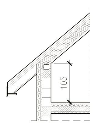 Wysokość ścianki kolankowej mierzona po wykończeniu domu