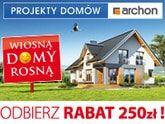 Rabat 250 zł na projekt domu ARCHON+