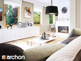 Dom w poziomkach 4 - wizualizacja salonu