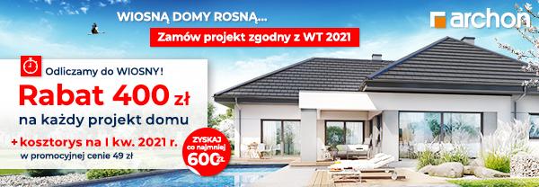 Rabat 400 zł na każdy projekt domu
