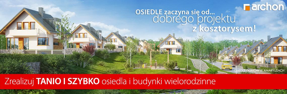 Projekty domów dla Dewelopera.